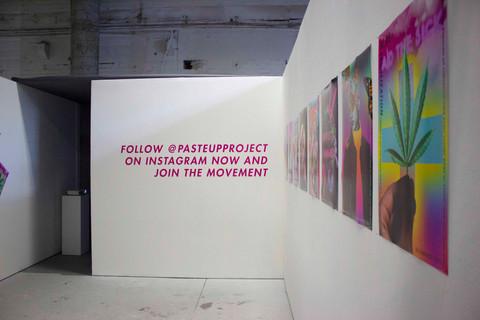 Shawnee Tekii, 2019. Paste up Project View 2 [Installation, size unknown].