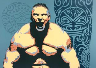 Shawnee Tekii, 2018. Brock WWE [Acrylic on paper 100 x 140 cm].