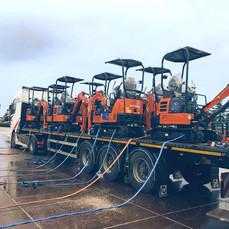 Graafmachine transport naar midden Italië door MJT Logistics