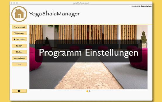 Erklärungsvideo zu den Programmeinstellungen in YogaShalaManager