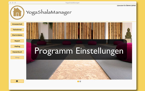 Erklärungen zur effektiven  Vorgehensweise beim Einrichten von YogaShalaManager.