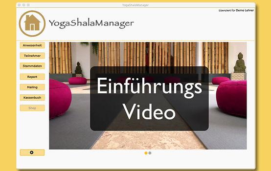 Diese Video zeigt eine Übersicht und Erklärungen zu den einzelnen Funktionen von YogaShalaManager