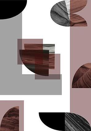 Geométrico Abstrato Marsala II