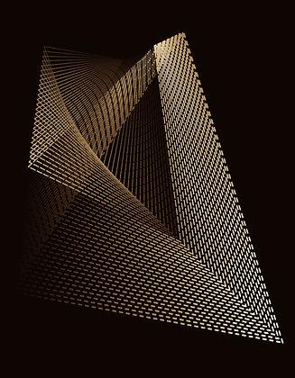 Abstrato linhas bronze II