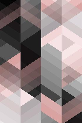 Geometric Rose and Grey