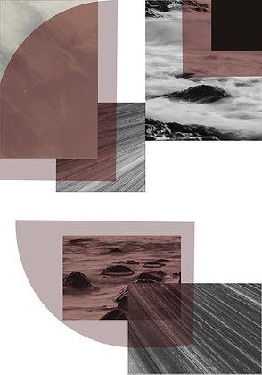 Geométrico Abstrato Marsala
