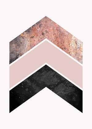 Geometric Collection Rose II