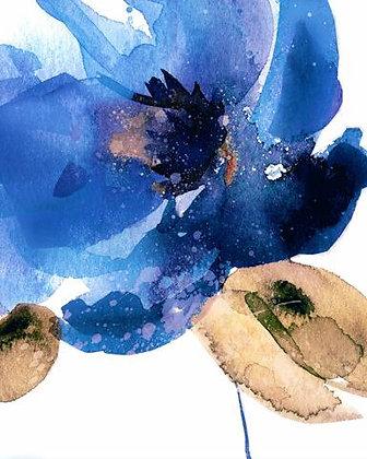 Flor Aquarelada Azul II