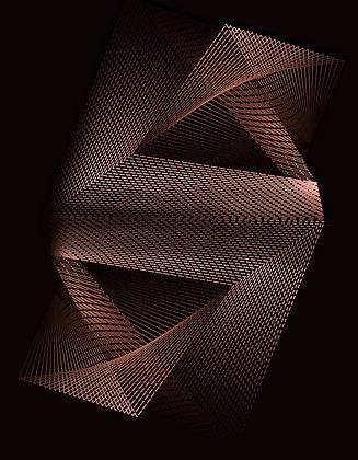 Abstrato linhas bronze