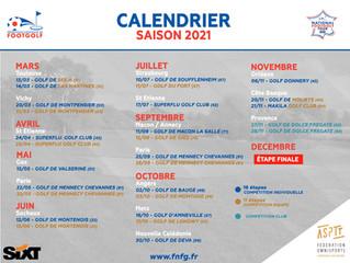 le calendrier 2021 des compétitions sort
