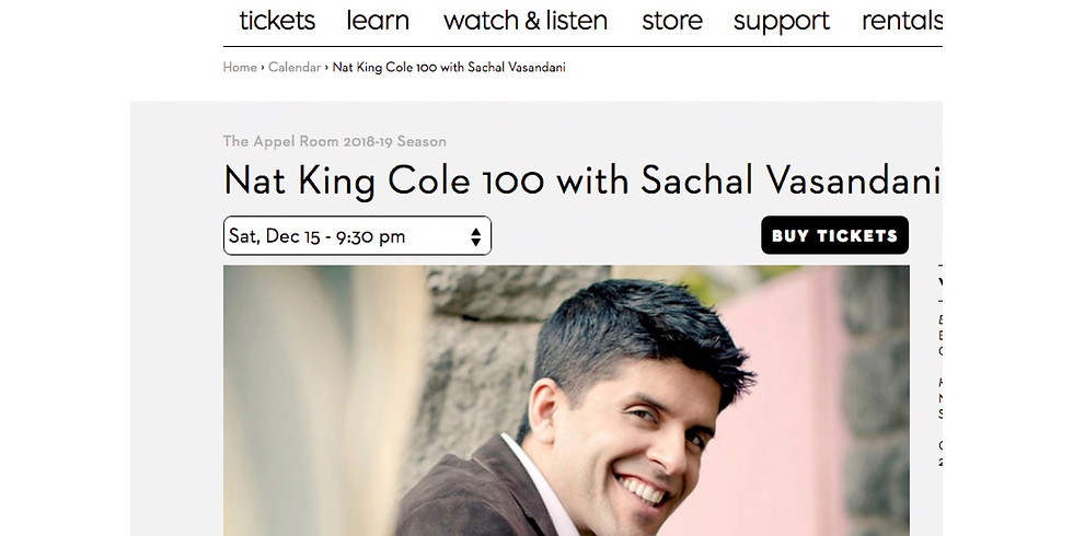 JALC New York - Nat King Cole 100 with Sachal Vasandani