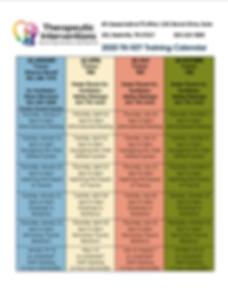 2020 KEY and Trauma Training Calendar Mi