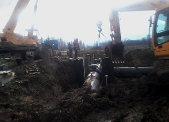 Близится к завершению строительство десятикилометрового участка магистрального водовода «Троицкого г