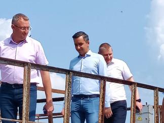 Вице-губернатор Краснодарского края Александр Трембицкий с рабочим визитом посетил объекты РЭУ «ЕГВ»