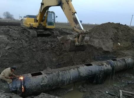 На магистральном водоводе Троицкого группового водопровода устранили вторую крупную аварию: аварийны