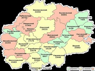 Численность населения Рязанской области на начало 2017 года