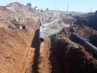 ГУП КК «Кубаньводкомплекс» осуществил врезки новых участков на главных водоводах станицы Тамань