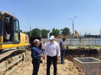 Комиссионная инспекция хода строительства третьей нитки магистрального водовода ТГВ