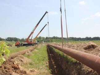 Специалисты РЭУ «ТамГВ» заменили аварийный участок магистрального водовода протяженностью 200 метров