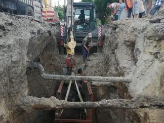 Выполняем ремонтные работы на одном из ключевых участков канализационной сети г. Ейска
