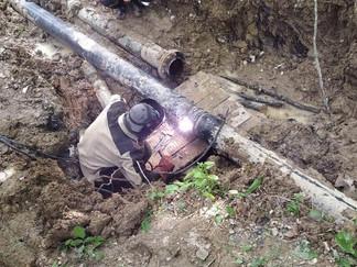 РЭУ «ТГВ» провел аварийно-восстановительные работы магистрального водовода МВ-3