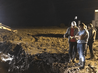 """Аварийно-восстановительные работы на магистральном водоводе МВ-2 РЭУ """"Троицкий групповой водопровод"""""""