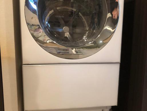 排水管洗浄用の洗濯機かさ上げ事例(東京都世田谷区編)