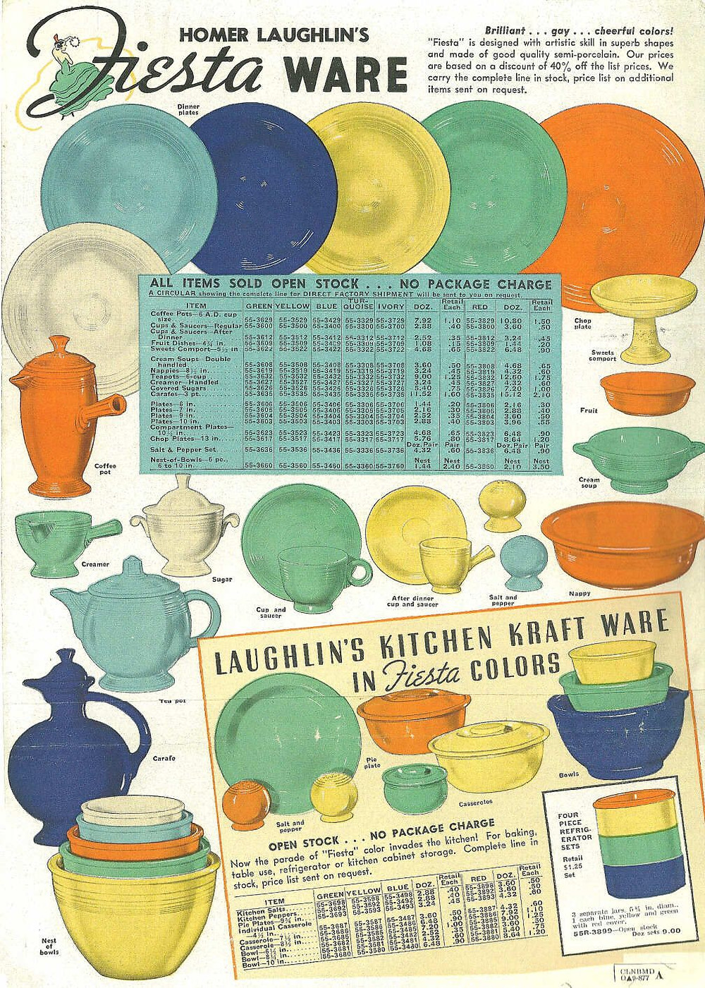 A 1938 Fiestaware Advertisment (Color)