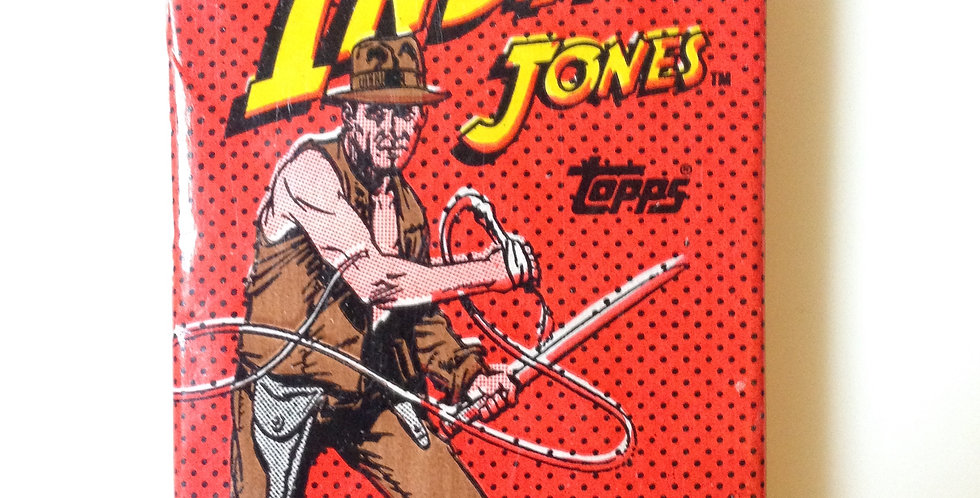 Indiana Jones Card Pack~ Topps  (10 Cards, Sticker, Bubble Gum)