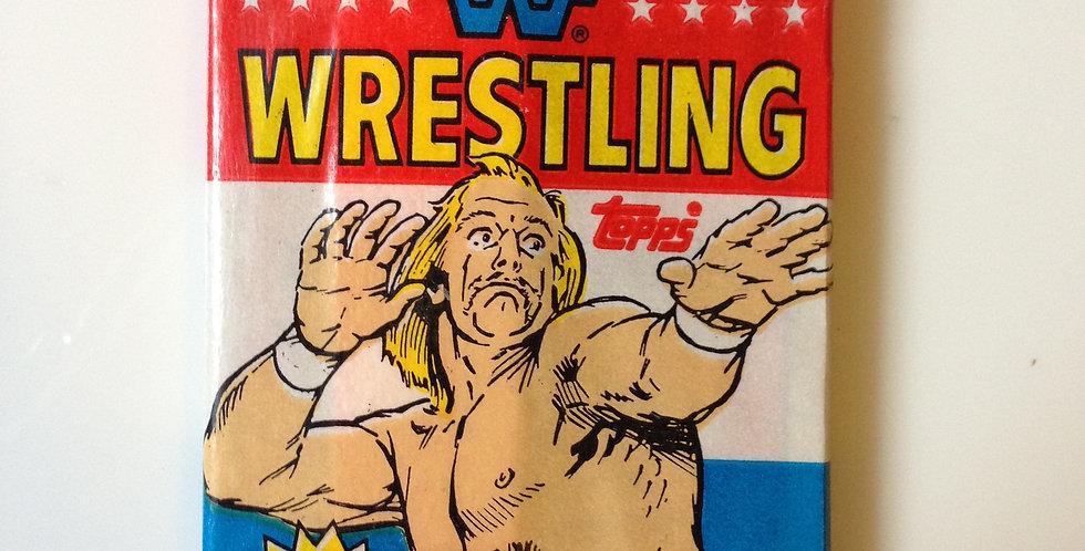 WWF Wrestling ~ WrestleMania III (9 Cards, Sticker, Bubblegum)