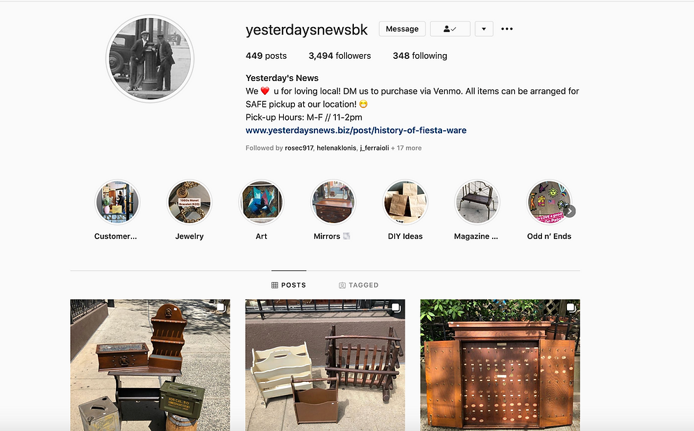 Our Instagram Homepage – @YesterdaysNewsBk