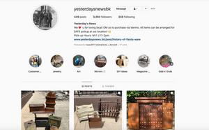 Our Instagram Homepage – @YesterdaysNewsBk