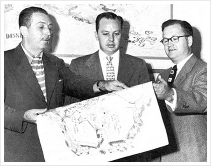 Walt Disney, CV Wood and Harrison Price