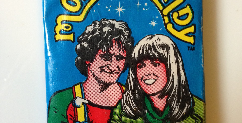 Mork & Mindy Card Pack ~ Topps (10 Cards, Sticker,Bubble Gum)