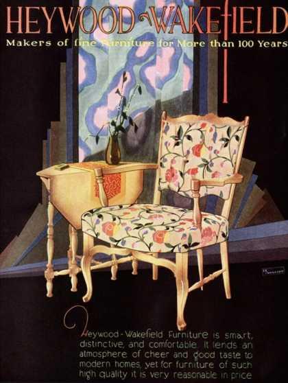 Heywood Wakefield, Furniture Interiors Ad (1920)