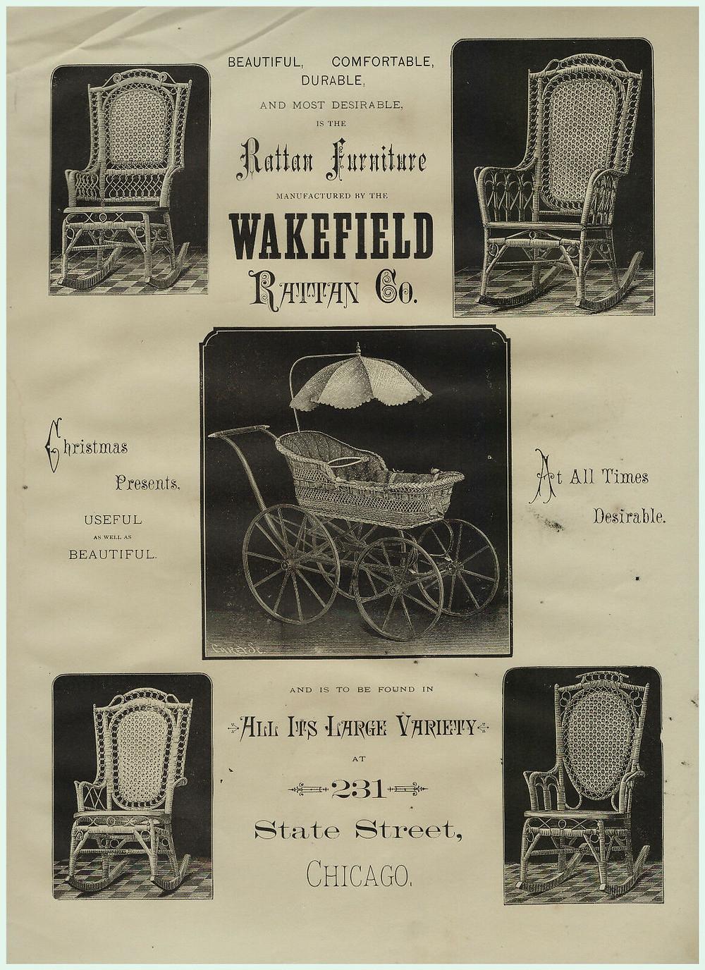 1897 Heywood Wakefield Wicker Ad