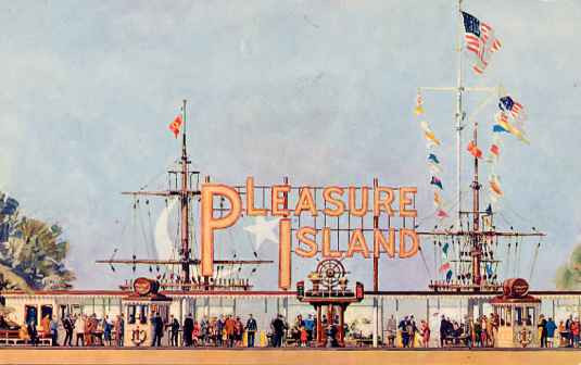 Pleasure Island Front Gate Illustration
