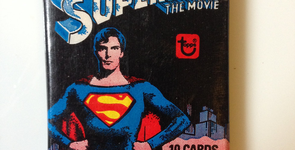 Superman The Movie Card Pack Topps (10 Cards, Sticker, Bubblegum)