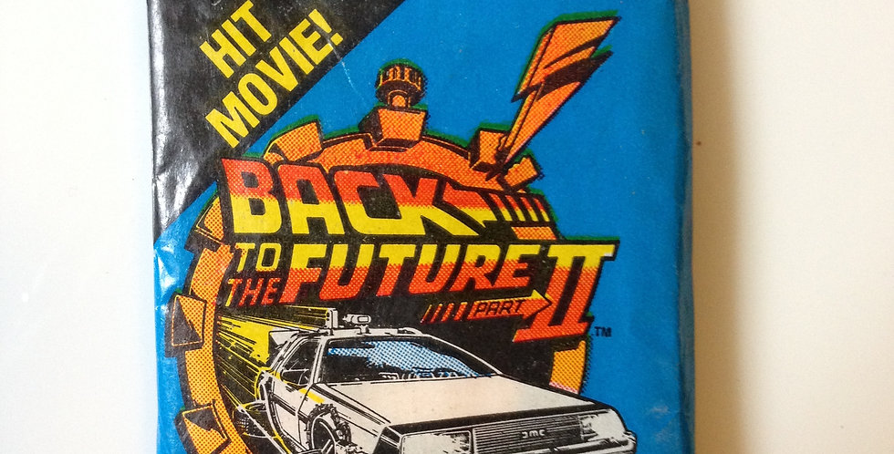 Back To The Future II Topps Card Pack (9 Cards, Sticker, Bubblegum)