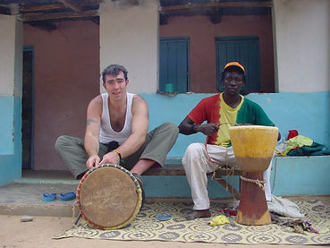 Graeme making Djembe in The Gambia.JPG