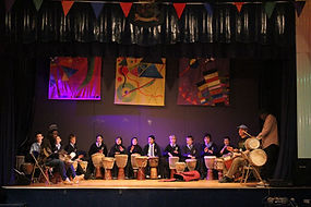 School Djembe Drumming Performance