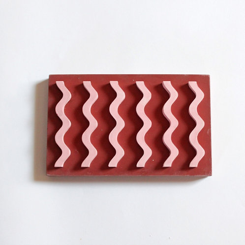 Seifenablage / Rot-rosa