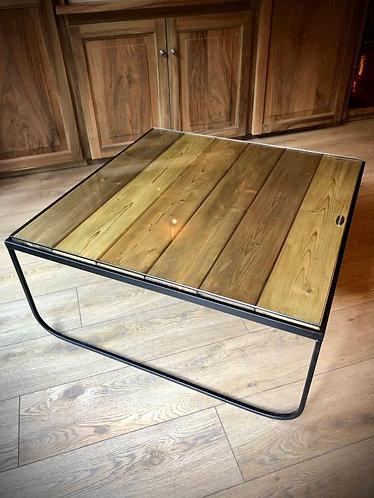 Table basse bois / verre
