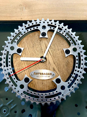 Horloge plateau vélo aluminium