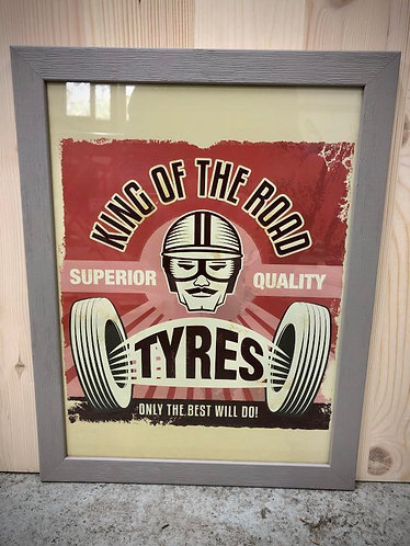 """Cadre """"King of the road tyres """""""