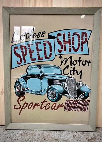 """Cadre """"Speed shop """""""