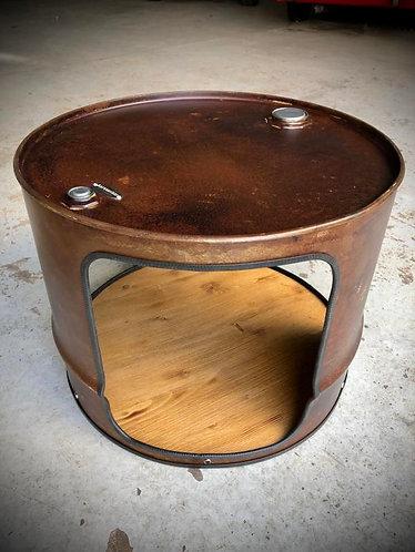 Table basse fût / bidon d'huile
