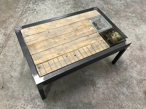 Table basse verre loupe