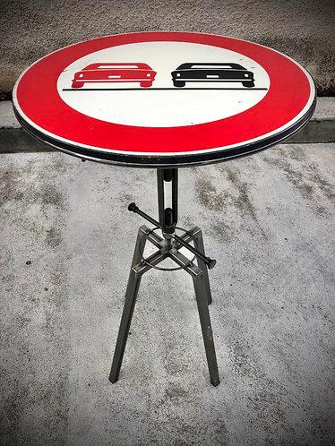 Table bar / mange debout réglable panneau signalisation