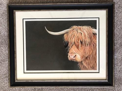 Hairy Moo framed print